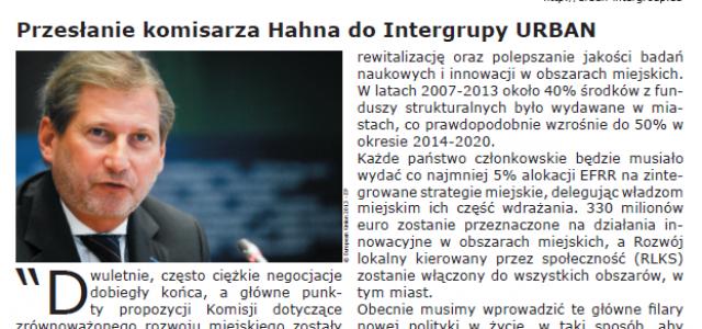 Najnowszy newsleter Intergrupy URBAN