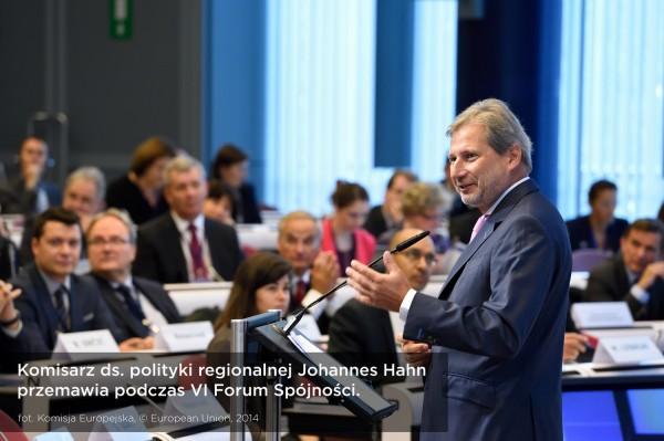 VI Forum Spójności - przemówienie komisarza J. Hahna