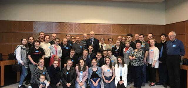 Grupa z Cieszyna w Parlamencie Europejskim w Brukseli