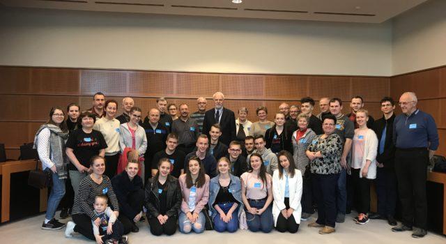 Grupa z Cieszyna w Parlamencie Europejkim w Brukseli
