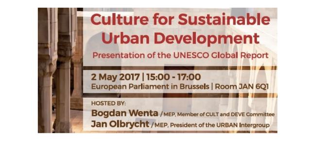 Prezentacja raportu UNESCO dotyczącego kultury i zrównoważonego rozwoju miast