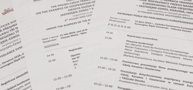 """Konferencja """"Polsko – czeska współpraca transgraniczna"""""""