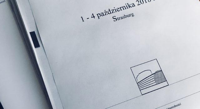 Październik 2018: sesja plenarna