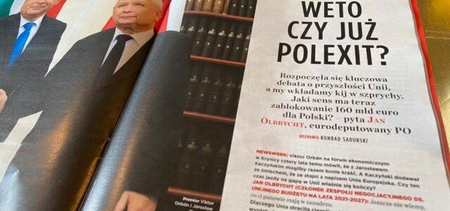 Jaki sens ma teraz zablokowanie 160 mld euro dla Polski? – Jan Olbrycht dla Newsweek Polska