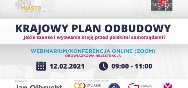 """Webinarium """"Krajowy Plan Odbudowy"""""""