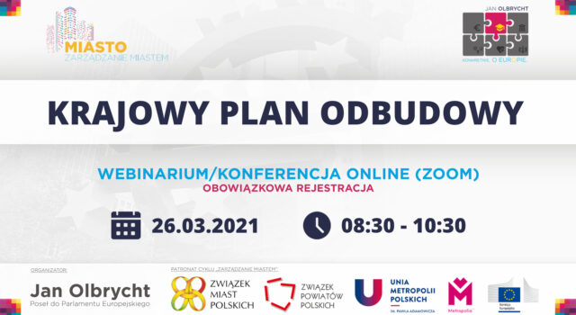 Webinarium o Krajowym Planie Odbudowy