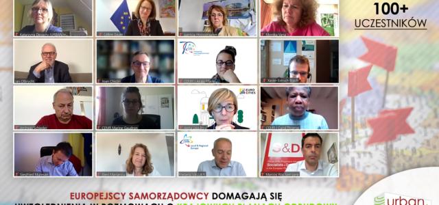 ‼ Dyskusja o Krajowych Planach Odbudowy z europejskimi samorządami ‼